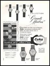 Publicité Montres ESKA Suisse  Watch photo vintage print ad  1955 -9i