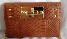 NEW Crossbody Bag Faux Leather Cognac Apt. 9 Samantha Small Purse Retail $34 NWT