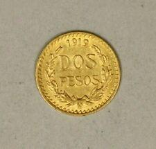 Mexico Gold Dos 2 Pesos 1919 AU  A1788