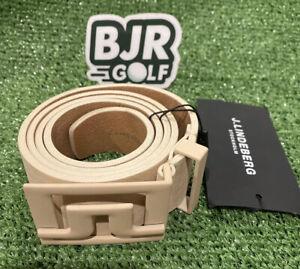 """New Mens J Lindeberg Slater 40 Brushed Leather Beige Golf Belt. Size 36"""" 90cm."""