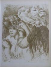 Auguste Renoir (d'après) - le chapeau épinglé - Lithographie signée  #MOURLOT
