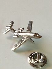 New AIRPLANE Silver tone JET PIN Lapel Pilot Traveling Steward Flying Detail!
