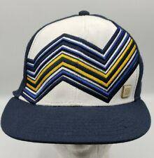 SEAN JOHN MEN'S Hat Size 7 1/4 Fitted SJ Hat Pin Blue Cap Colorful Stripes