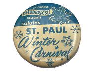 Vtg 1960's  La Crosse WI Oktoberfest St Paul Winter Carnival Pin Pinback Button
