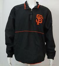 Majestic San Francisco Giant Men's Long Sleeve Zip Pullover Jacket Black
