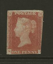 GB SG8 1d Penny Red Imperf MINT with gum 2-3 Margin Example