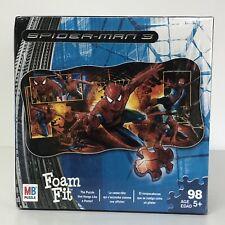 SPIDER-MAN 3 FOAM FIT PUZZLE MILTON BRADLEY KIDS TOY MARVEL DAMAGED BOX  5+