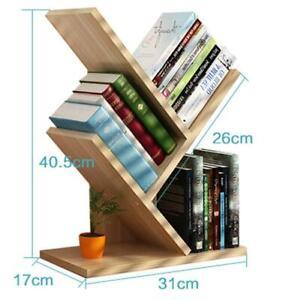 3 Shelf Tree Bookshelf Bookcase Display Storage Rack Holder Organizer free ship