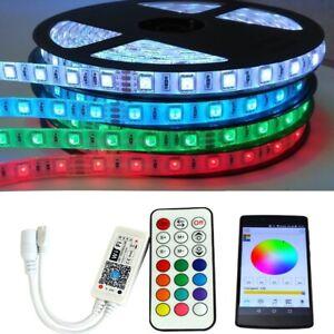 LED RGB Stripe 1 - 30 m Lichterkette Band Funk RF WiFi App Farben Lichtband Bunt