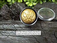 Old Rare Vintage Antique Civil War Relic Eagle Cavalry Coat Button Loaded Gold