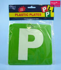 1 Pair GREEN 'P' PLATES with Stay-put 1 Suction Disk 15x15cm P Plate KD01627