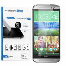 NEW PREMIUM ULTRA THIN REAL TEMPERED GLASS SCREEN PROTECTOR FILM FOR HTC ONE M8