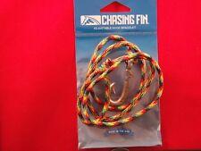 """CHASIN FIN""   FISH HOOK BRACELET- ""JAMAICAN"" 550 PARACORD /PEWTER HOOK"