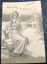 Switzerland Christmas Card Joyeux Noel UPU - posted 1905