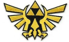 "Legends of Zelda Princess Triforce Gold Cutout Logo Embroidered 3 1/2"" Patch"