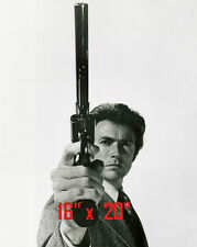 """Dirty Harry~Clint Eastwood~Police Inspector~Cop~Photo~B&W~Poster~  16"""" x  20"""""""