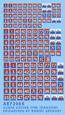 Archer AR72068 1/72 Dry Transfers of WWII British Formation Signs+AOS Flash