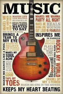 VINTAGE MUSIC POSTER PRINT WALL ART SIZE A1 /A2 /A4 Made in UK