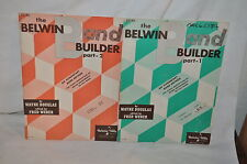 1955 vintage THE BELWIN BAND BUILDER DRUMS MUSIC PART 1 AND 2  book  USA