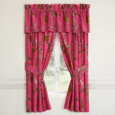 REALTREE AP FUCHSIA HOT PINK CAMOUFLAGE WINDOW CURTAINS - DRAPES
