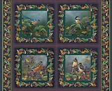 Ailes de jardin oiseaux quilting coussin tissu - 4 panneaux-superbes couleurs vives