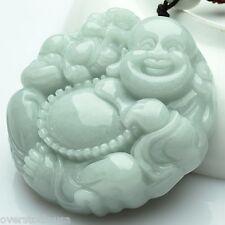 FINE Certified 100% Natural A Grade Jade (Aqua Jadeite) Lucky Buddha Pendant