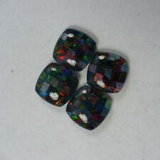 Opal – Jet Backed - Antique Cushion Mosaic Triplet – 12mm x 10mm - 1 Piece