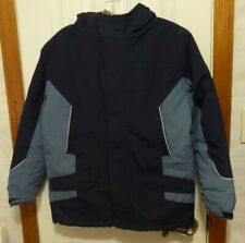 Boys Land'S End Winter Squall Parka Size M 10/12 Grow A Long Sleeves Waterproof
