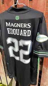Edouard Celtic Match Prepared SPFL Football Shirt Not Worn