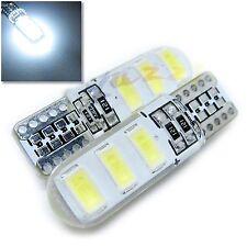 UK x2 SILICONE 6 SMD T10 W5W 501 WHITE LED BULB 12v