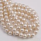 50pcs 8mm Pearl Round Glass Loose Spacer Beads Jewelry Making Pearl White