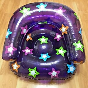 Inflatable Chair Couch Light Weight Sofa Seat Many Colors Decor Blow Up Gift US