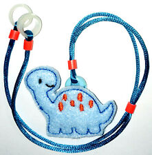 Childs 2 sided Hearing Aids fashion safety Leash loss RETAINER CORD CLIP ..DINO