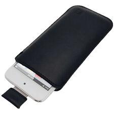 Schwarz Leder Beutel für Apple iPod Touch 6. & 5. Generation 5G 6G Tasche Case
