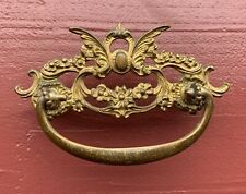 "Farmhouse Antique Hardware Brass French Country Victorian Drawer Pull 3"" center"