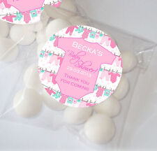 12x Personalised BABY SHOWER Party table sweet bags favours KITS Babygro clothes