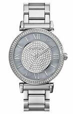 Michael Kors MK3331 Silver Caitlin Glitz Women's Light Blue Pearl Dial Watch