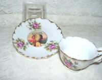 Souvenir Johnstown PA Demitasse Cup And Saucer American Indian Made in Japan
