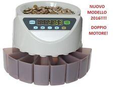 CONTAMONETE CONTA E DIVIDE MONETE EURO 8 TAGLI € - garanzia ed assistenza ITALIA