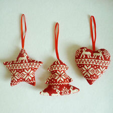 Red Christmas Tree Decoration Xmas Holiday Party Hanging Ornament Cute Decor