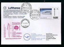 99438) LH a380 SF Solar Eclipse FFT USA 14.10.-5.11.14 PLUS lettera individualmente