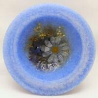 "Habersham Wax Pottery Bowl Indigo Child  - 7"" Wax Vessel Flameless USA Made"