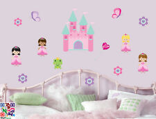 Princess Fairy Castle - 14 Pack Wall Art Stickers Butterfly Flowers Frog Decals