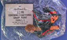 BUY1&GET1@50%~Hallmark PIN Halloween MIP WITCH Flying BROOMSTICK UGLY Vintage