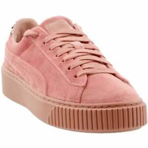 Puma Platform Velvet Crushed Gem Womens  Sneakers Shoes Casual   - Pink