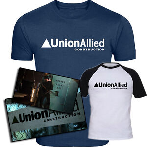 Union Allied Construction Inspired Daredevil TV Series Screen-Printed T-Shirt