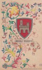 ASCOLI PICENO_stemma in cornice liberty_CROMOLITOGRAFIA_DE FRANCESCHI EDITORE_BO