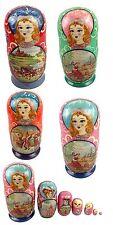 Matroschka Matrjoschka  19 cm 7 teilig Handarbeit Russische Puppe Babuschka