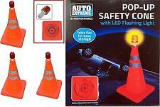 2x 40CM naranja brillante de emergencia de Cono de seguridad del tráfico emergente con LED Luz de Faro