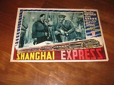 FOTOBUSTA,Shanghai Express, Marlene Dietrich,Clive Brook,Warner Oland, Sternberg